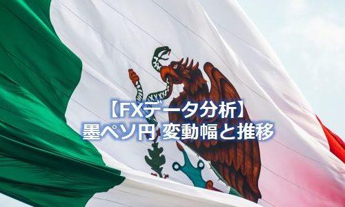 メキシコペソ円の変動幅と推移~FX通貨データ分析【MXN/JPN】