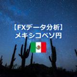 メキシコペソ円過去データ分析